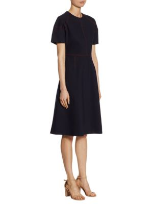 Contrast Stitched Dress