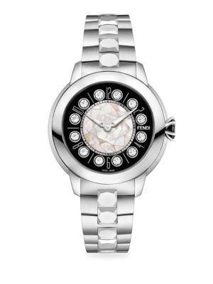 IShine Topaz Stainless Steel Bracelet Watch