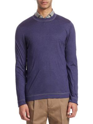 Cotton Crewneck Pullover