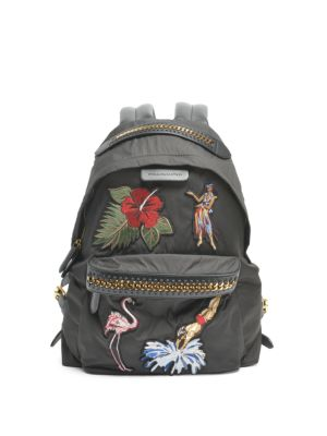 Stella McCartney Falabella tropical embroidery backpack Cheap Sale Genuine Xqo0x
