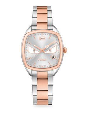Momento Fendi Bugs Cushion Diamond Stainless Steel Bracelet Watch