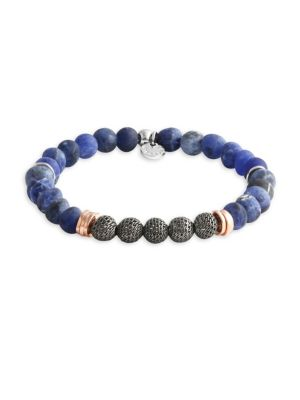 Blue Stonehenge Beaded Bracelet