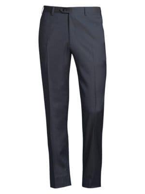 Regular-Fit Classic Wool Trousers