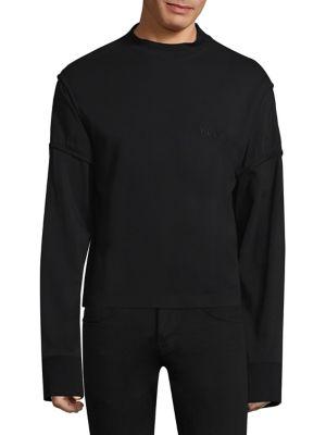 Distorted Cotton Sweatshirt