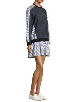 PROSE & POETRY TANNER DROP-WAIST STRIPED SWEATSHIRT DRESS