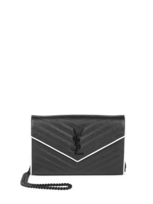 Monogramme Contrast Piping Chain Wallet