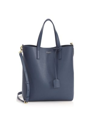 TOY SHOPPING LEATHER TOTE - BLUE