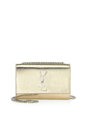 Small Kate Textured Silvertone Metallic Wallet