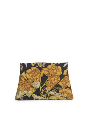 Floral Cotton Envelop Pouch