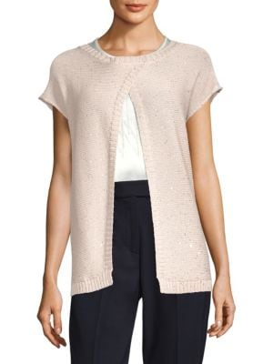 Short -Sleeve Cotton Cardigan