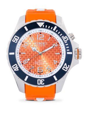 Stainless Steel Syracuse Orange Strap Watch