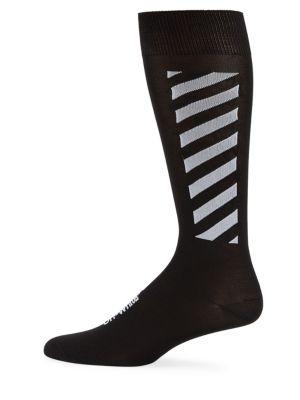 Diagonal Stripe Long Socks by Off White