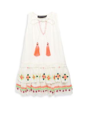 Toddler's, Little Girl's & Girl's Tassel Silk Dress