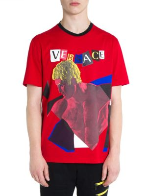 Collage-Print Logo Shirt