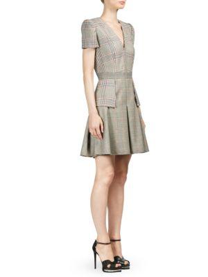 Plaid Patchwork A-Line Dress