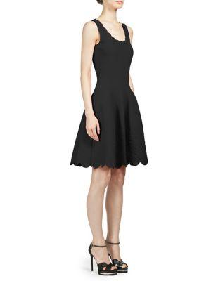 Scalloped A-Line Dress