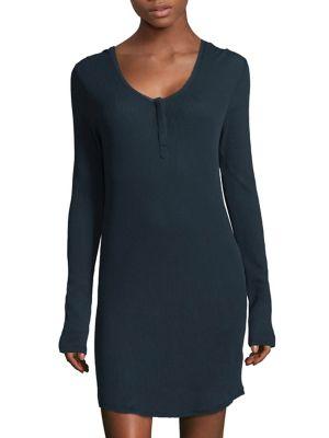 Wynn Cotton Henley Dress