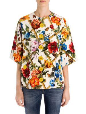 Floral Bamboo Print Jacket