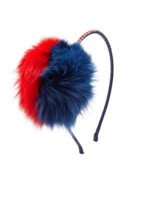 Fox Fur & Crystal Headband