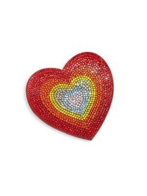 Embellished Heart Emoji Hair Clip