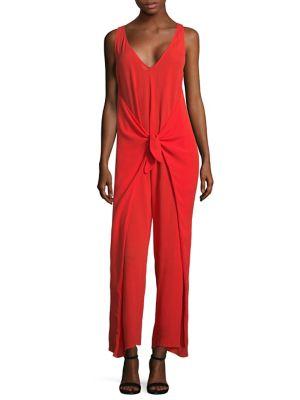 Muriel tie-waist jumpsuit