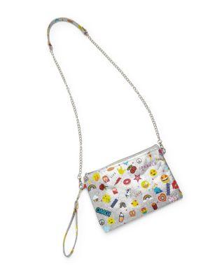 Emoji Glitter Wristlet