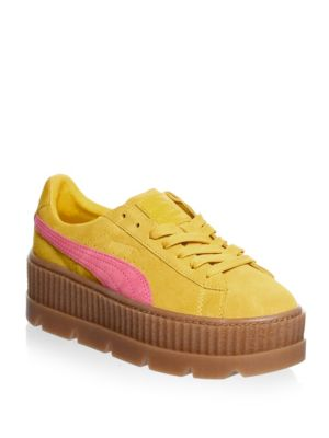 WOMEN'S FENTY X RIHANNA SUEDE CLEATED CREEPER CASUAL SHOES FROM FINISH LINE