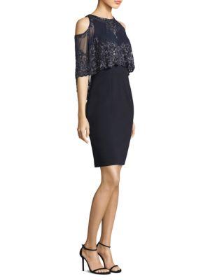 Capelet Mini Dress
