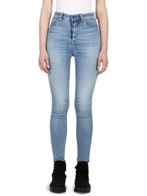 high waist skinny jeans - Blue Unravel Prices Online Shopping Online High Quality Collections Cheap Online RnYrNw