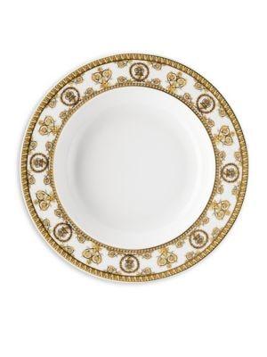 I Love Baroque Bianco Rim Soup Plate