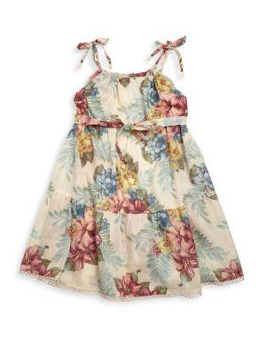 Toddler's, Little Girl's & Girl's Kali Hisbiscus Tie Dress