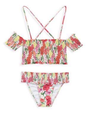 Toddler's, Little Girl's & Girl's Smocked Bikini Set