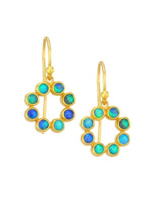GURHAN Juju 24K Yellow Gold & Opal Drop Earrings