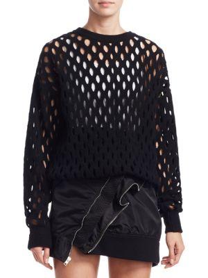 Intarsia Fishnet Pullover