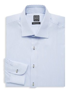 Regular-Fit Stripe Cotton Dress Shirt