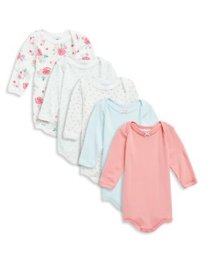 Baby's Five-Piece Cotton Bodysuit Set