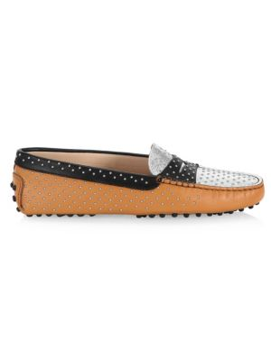 Women's Gommini Micro Leather-Stud Driving Loafers