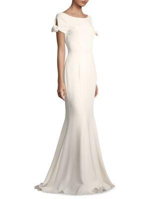 Peek-a-boo shoulder Gown