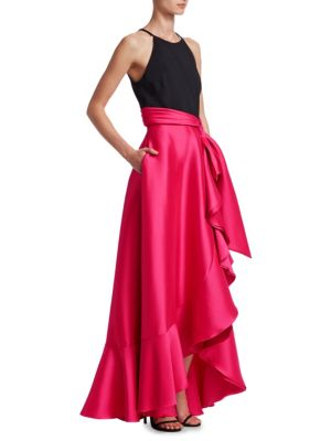Two-Tone Floor-Length Gown