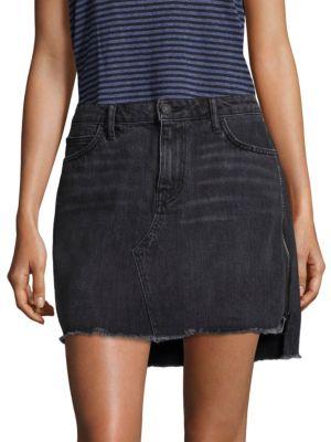 SANDRINE ROSE Denim Five-Pocket Mini Skirt