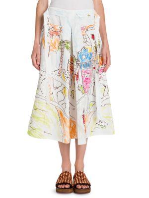 Pleated Artist Skirt