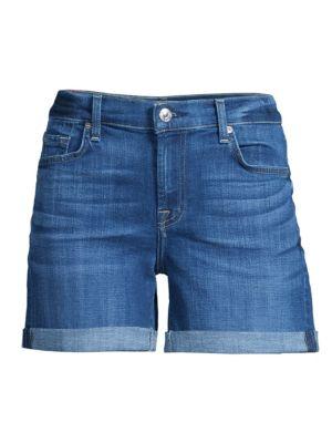 Midroll Denim Shorts