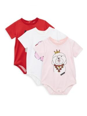 Baby's Three-Piece Cotton Bodysuits Set