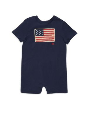 Baby Boy's Flag Cotton Jersey Shortall