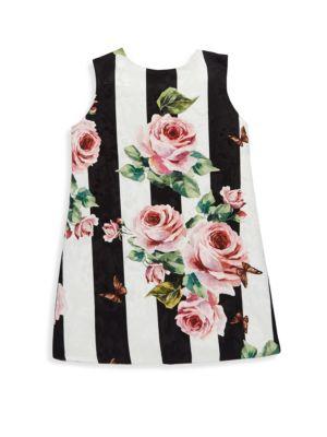 Toddler's, Little Girl's & Girl's Striped Rose Dress