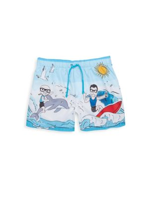 Toddler's & Little Boy's Printed Swimming Trunks
