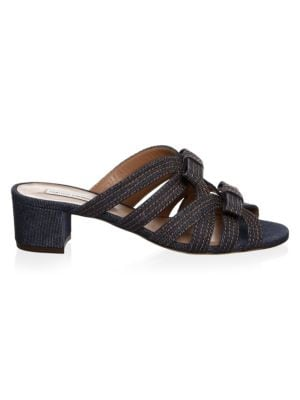 Meryl Denim Slides