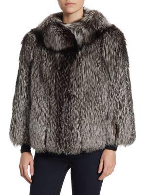 Round Collar Fox Fur Jacket