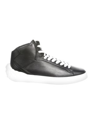 Medusa Mid-Top Leather Sneakers