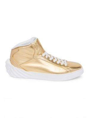 Medusa Leather High-Top Sneakers